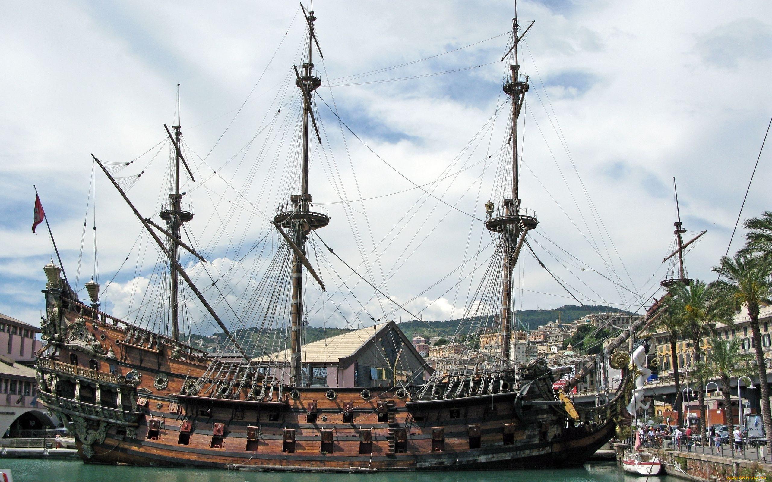 Старинные парусные корабли фото